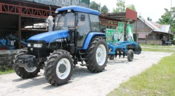 Foton Tractor with Trailing Harrow